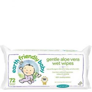 Gentle Aloe Vera Wet Wipes - 72wipes
