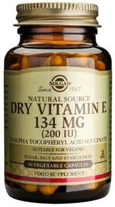 Dry Vitamin E 134mg (200iu) - 50 Veg Caps