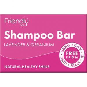 Natural Shampoo Bar - Lavender & Geranium - 95g