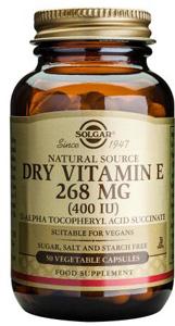 Dry Vitamin E 268mg (400iu) - 50 Veg Caps