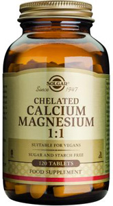 Chelated Calcium Magnesium 1:1 - 120 Tabs