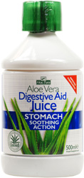 Aloe Vera Digestive Aid Juice with Digestive Enzymes & Peppermint - 500ml
