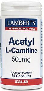 Acetyl L-Carnitine (ALCAR) 500mg - 60 Caps