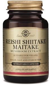 Reishi Shiitake Maitake Mushroom Extract - 50 Veg Caps
