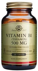 Vitamin B1 (Thiamin) 500mg - 100 Tabs