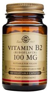 Vitamin B2 (Riboflavin) 100mg - 100 Veg Caps