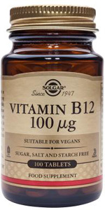 Vitamin B12 100mcg - 100 Veg Caps