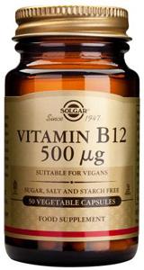 Vitamin B12 500mcg - 50 Veg Caps
