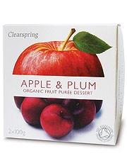 Apple & Plum Fruit Puree - 2 x 100g