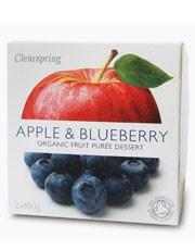Apple & Blueberry Fruit Puree - 2 x 100g