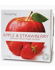 Apple & Strawberry Fruit Puree - 2 x 100g