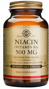 Niacin (Vitamin B3) 500mg - 100 Veg Caps