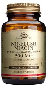 No-Flush Niacin (Inositol Hexanicotinate) 500mg - 50 Veg Caps