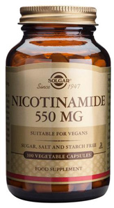 Niacinamide (Vitamin B3) 550mg - 100 Veg Caps