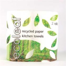 Ecoleaf 3 Ply Kitchen Towel - Twin Roll Pack