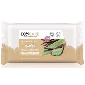 Organic Baby Wipes Vanilla - 60 Wipes