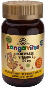 Kangavites Chewable Vitamin C 100mg (Orange Burst) - 90 Tabs