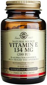 Vitamin E 134mg (200iu) Vegetable - 50 Veg Softgels