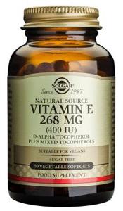 Vitamin E 268mg (400iu) Vegetable - 50 Veg Softgels